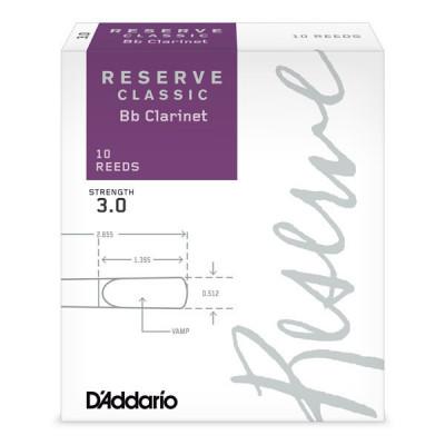 Stroiki do klarnetu Bb Rico Reserve Classic by D'Addario - opakowanie 10 sztuk
