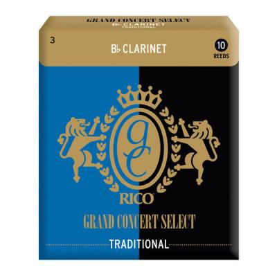 Stroiki do klarnetu Bb Rico Grand Concert Select Traditional Blank - opakowanie 10 sztuk