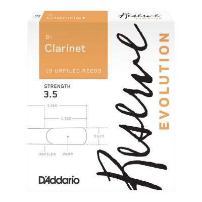Stroiki do klarnetu Bb Rico by D'Addario Reserve Evolution - opakowanie 10 sztuk