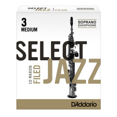 Stroik do saksofonu sopranowego Rico Select Jazz Filed by D'Addario - 1 sztuka