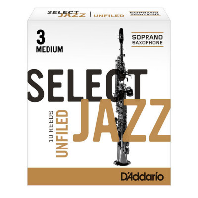 Stroik do saksofonu sopranowego Rico Select Jazz Unfiled by D'Addario - 1 sztuka
