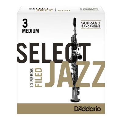 Stroiki do saksofonu sopranowego Rico Select Jazz Filed by D'Addario - opakowanie 10 sztuk