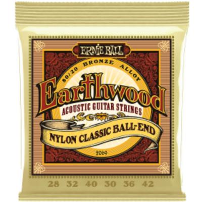 Struny do gitary klasycznej Ernie Ball EB 2069 medium