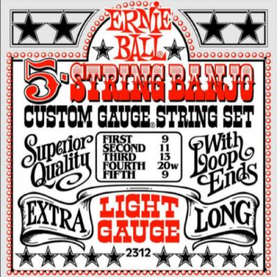 Struny do banjo Ernie Ball EB 2312