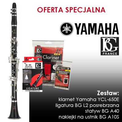 Klarnet Yamaha YCL-650E - ZESTAW