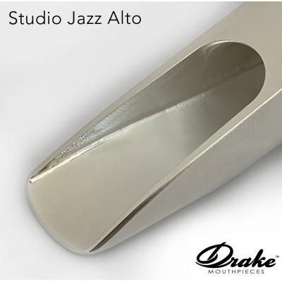 Ustnik do saksofonu altowego Drake Studio Jazz Metal Silver Plated SJM SP 8